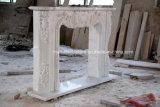Antike Hand geschnitztes weißes Carrara  Marmorkamin Sy-310