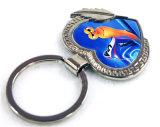 美しい装飾の昇華中心形の金属Keychains