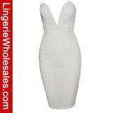 MiniKleding van Bodycon Clubwear van de Hals van sexy Vrouwen diep-V Strapless