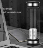 Bewegliche doppel-wandige Glastee-Flasche mit Filter für Grossisten
