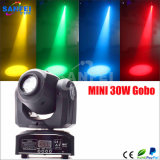 DJ小型LED 30Wの点の移動ヘッドライト