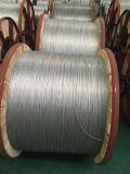 Fio de aço folheado de alumínio de cabo elétrico no carretel de madeira de aço