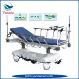 Esticador do hospital do trilho lateral de liga de alumínio de raia do espaldar X com controle hidráulico