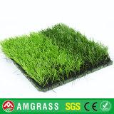 Relvado artificial da grama barata do futebol com revestimento protetor de borracha