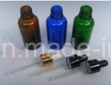 Бутылка голубого эфирного масла стеклянная с капельницей (NDB07)
