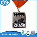 Le marathon personnalisé folâtre la médaille en métal