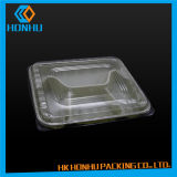 Un rectángulo más barato del acondicionamiento de los alimentos dentro del sostenedor plástico