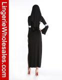 Costume Cosplay монашки платья мантии сексуальной партии Halloween женщин длинний