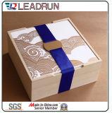 Caixa de empacotamento do perfume do cigarro da embalagem de madeira de madeira de madeira de madeira da caixa da pena do chá da música do armazenamento da caixa de presente do vinho da caixa de jóia do relógio (lw011b)