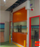 Автоматическая промышленная дверь штарки завальцовки PVC высокоскоростная