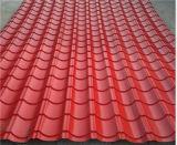A cor de Dx vitrificou o rolo de aço das telhas que dá forma à máquina