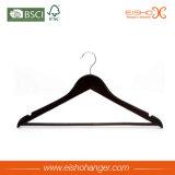 Hangers van het Kostuum van de Douane van de lage Prijs de Zwarte Houten (3FHL0006)