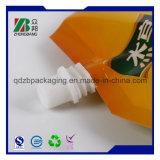 Sac de empaquetage personnalisé de traitement de gicleur de bec d'impression de vin en plastique de poche (ZB388)