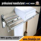 Регулируемой установленный стеной шкаф полотенца нержавеющей стали с крюком