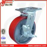 Echador resistente de la PU del eslabón giratorio con el freno total