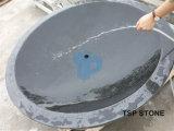 물동이와 배 수채를 위한 자연적인 돌 욕조
