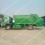 Carro del compresor de la basura de Sinotruk HOWO 4*2 266HP 12cbm