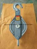 Typen einzelnen Antriebsscheibe-Kabel-Riemenscheiben-Zugreifen-Block öffnen