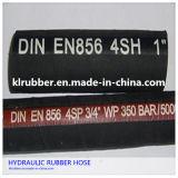 boyau à haute pression tressé en caoutchouc d'essence de fil d'acier de 19mm