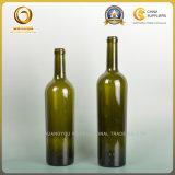 深緑色750ml先を細くすることの形のボルドーのワイングラスのびん(057)