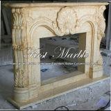Bordi di pietra di marmo Mfp-603 del camino dell'oro del deserto del granito