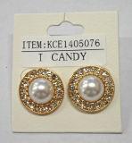진주를 가진 두바이 금 보석 귀걸이 18k 금