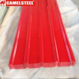 Camelsteelのカラーによって電流を通される鋼鉄屋根ふきのパネル