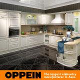 2014 Oppein الطلاء الأبيض مطبخ مجلس الوزراء نمط جديد
