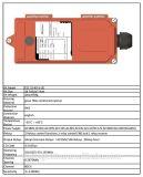 Commande de radioélectrique industrielle de long terme de vente chaude Telecrane F21-2s