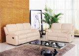 Italien-ledernes Sofa stellt manuelle Funktions-Möbel für Wohnzimmer verwendet ein