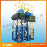 Machine automatique de construction de bidon et machine de soudure de bidon
