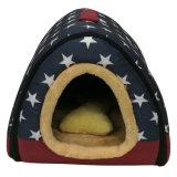 Portador do animal de estimação da casa de cão do canil do gato da tela