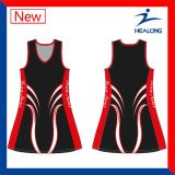 O Netball barato do Sublimation contorna vestidos dos Bodysuits