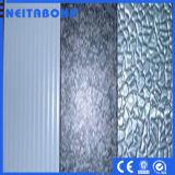 El panel compuesto de aluminio grabado con la ISO por el TUV