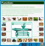 Separador líquido contínuo da extrusão do parafuso para o estrume do estrume/vaca do porco/estrume da galinha