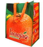 Sac de sac tissé par pp estampé par logo fait sur commande (100507)