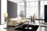 Otomano do armazenamento do sofá do couro da cor de Brown