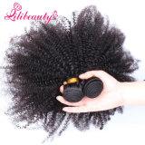 Tessitura crespa dei capelli ricci di Afro non trattato umano poco costoso del commercio all'ingrosso 100%