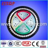 Алюминиевый кабель, кабель PVC, кабель 4 сердечников бронированный