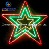 X-Large 123cm Width LED Red Green Yellow Flashing Star Lights