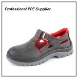 Breathable обувь безопасности лета пальца ноги неподдельной кожи стальная