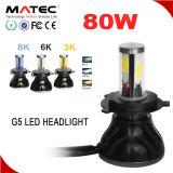 자동차 부속, LED 헤드라이트 기관자전차 A3 A4 4 측 G5 옥수수 속은 H4 H7 H11 LED 기관자전차 헤드라이트를 잘게 썬다