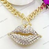 Collar cristalino de la joyería de los accesorios del traje de la manera del Rhinestone