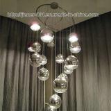 De grote Moderne Verlichting van de Lamp van de Tegenhanger van het Glas voor Huis of Hotel