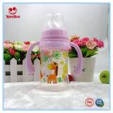 Бутылка молока младенца 8 Oz широкой шеи пластичная с ручками