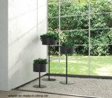 POT di fiore rotondo del pavimento d'acciaio di Uispair 100% per la decorazione moderna del giardino dell'ufficio