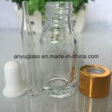 Bouteilles en verre d'huile essentielle claire pour le produit de beauté 15ml, 20ml, 30ml, 50ml, 60ml