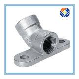 La flangia di tubo flessibile di alluminio del gomito vicino la pressofusione