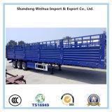 60 Tonnen seitliche Wand-Flachbett-halb Schlussteil-mit Zaun für Behälter-Transport
