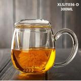 300ml de Kop van de Thee van het glas met het Drinken van het Glas van de Thee van de Filter het Glas van het Bureau